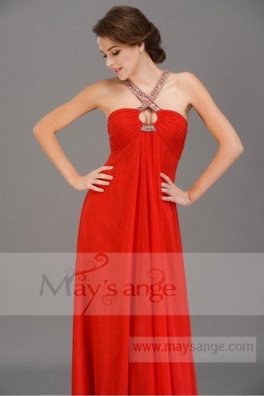 Red bridesmaid dress - L674 Miss lisa long red light dress - L674 #1