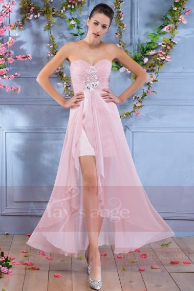 Robe de cocktail  C693  Rose - C693 #1