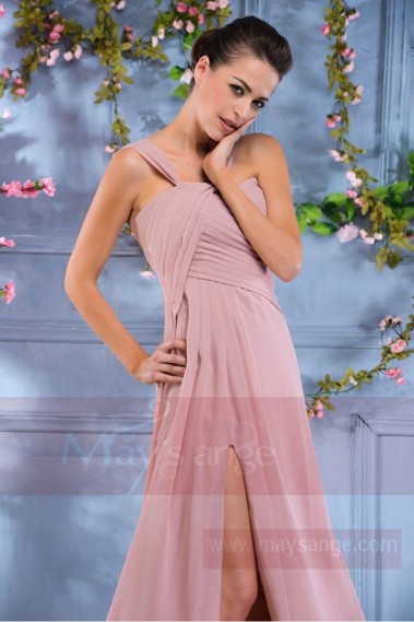 Long bridesmaid dress - L684 an outfit for the procession old pink tendency maysange - L684 #1