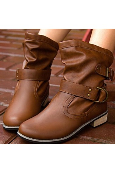 Promotion Bottines cuir caramel   DX032
