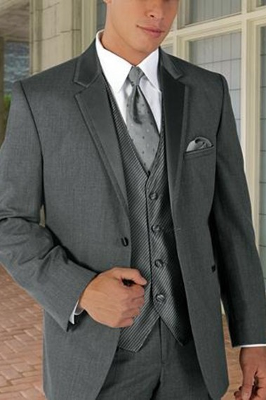 One white button Suit - MEN034 #1