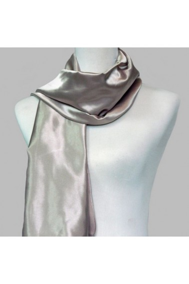 Satin silver scarf for evening dress - ETOLE05 #1