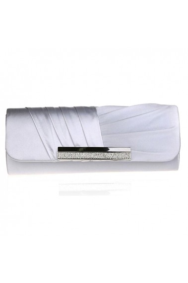 Beautiful Silver clutch purse wedding - SAC291 #1