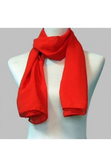 Chiffon large cheap red cashmere scarf - ETOLE13 #1