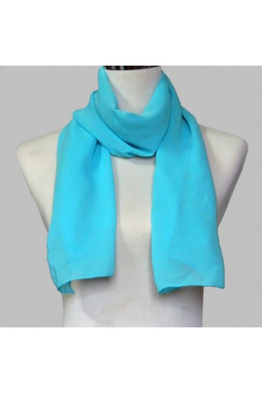 Affordable chiffon blue cashmere scarf - ETOLE14 #1