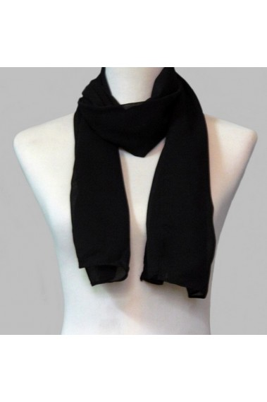 Chiffon black evening scarf for womens - ETOLE15 #1