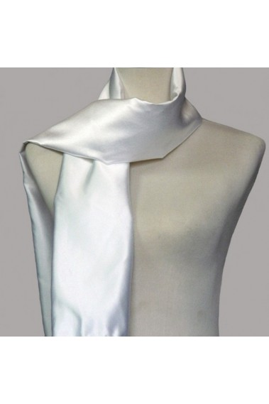 Thick satin white wedding shawl wrap - ETOLE18 #1