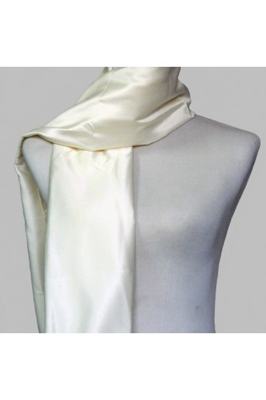 Satin champagne scarf for evening gown - ETOLE22 #1