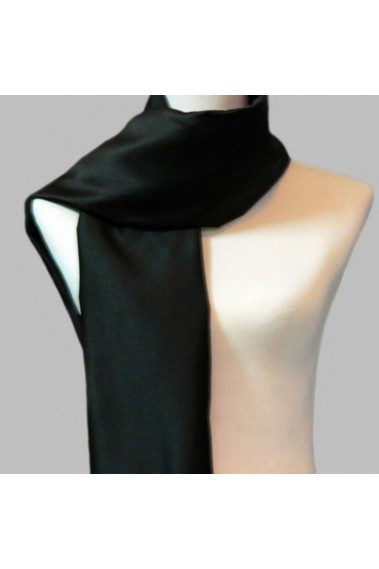 Black satin beautiful scarves online - ETOLE23 #1