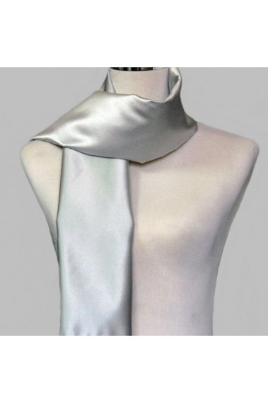 Little satin siver grey evening scarf - ETOLE24 #1