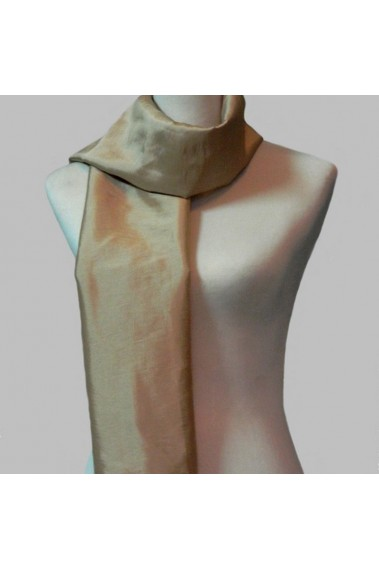 Taffeta champagne evening scarf ladies - ETOLE28 #1