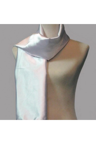 Taffeta white cashmere scarf for women - ETOLE29 #1