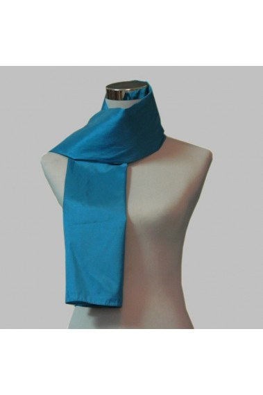 Blue taffeta formal scarves and wraps - ETOLE30 #1