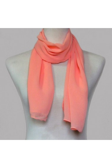 Watermelon red evening chiffon scarf - ETOLE34 #1
