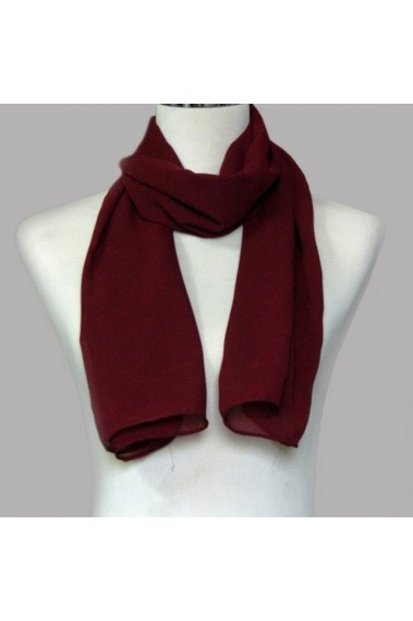 Pretty evening burgundy scarf womens - ETOLE35 #1