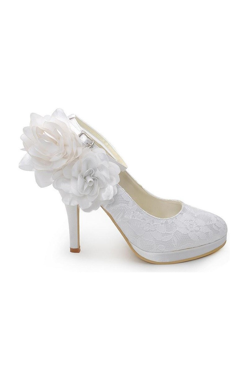 Chaussures Femme Blanc Pour Mariage - Ref CH044 - 01