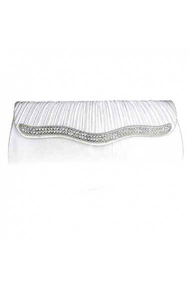 Trendy chic white clutch for wedding - SAC292 #1