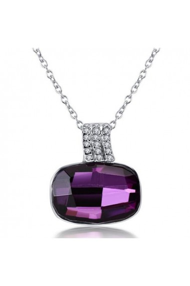 Affordable amethyst crystal necklace - F073 #1
