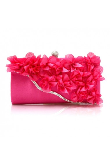 Trendy fashion fuchsia pink clutch bag - SAC306 #1