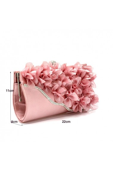 Flower pink clutch bags for weddings - SAC308 #1