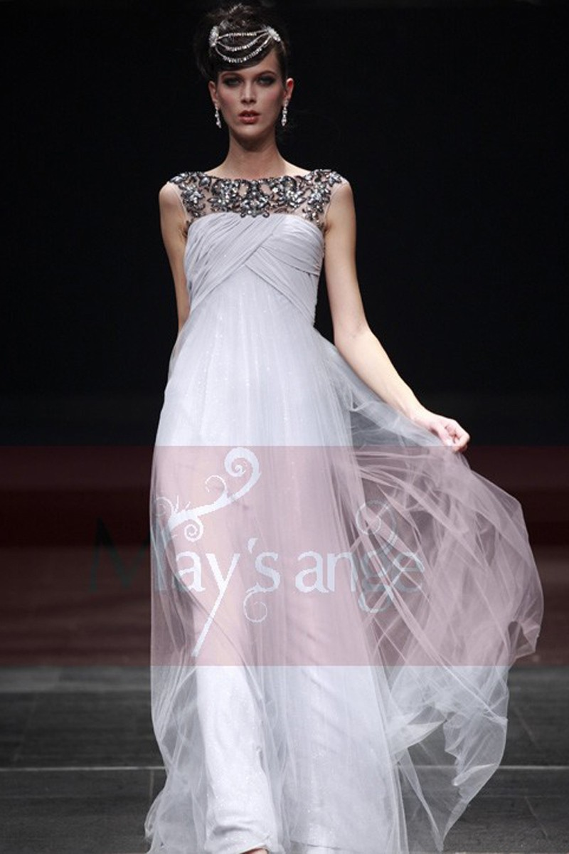 Long grey prom Dress Light