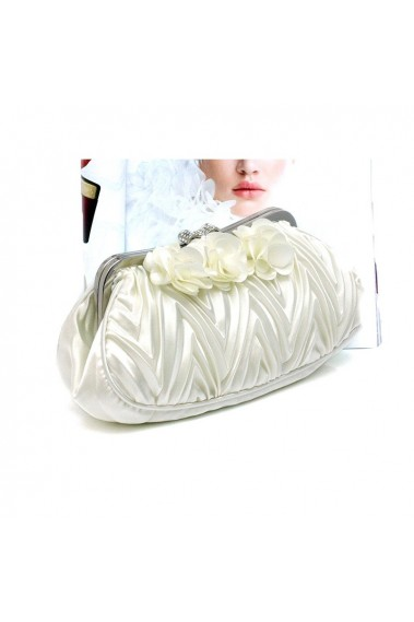 Affordable flower off white clutch bag - SAC381 #1