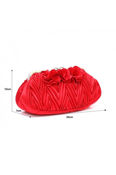 Beautiful fire red evening clutch bag - SAC382 #1