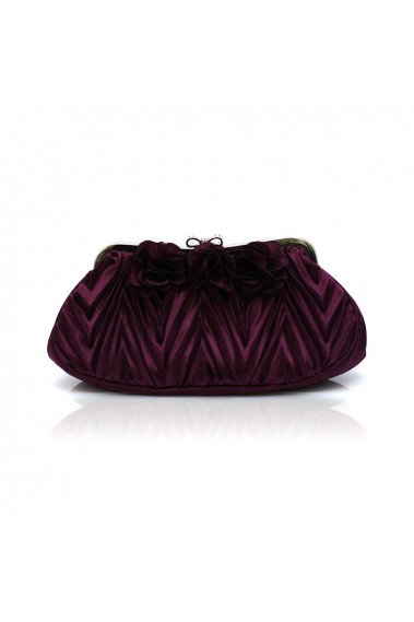 Beautiul flower purple evening clutch - SAC389 #1