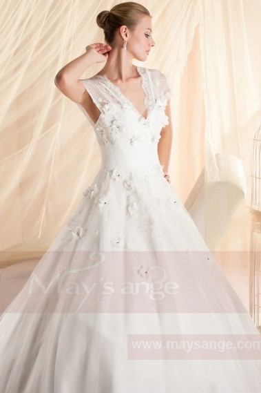 Long wedding dress - bridal gown  M344 - M344 #1