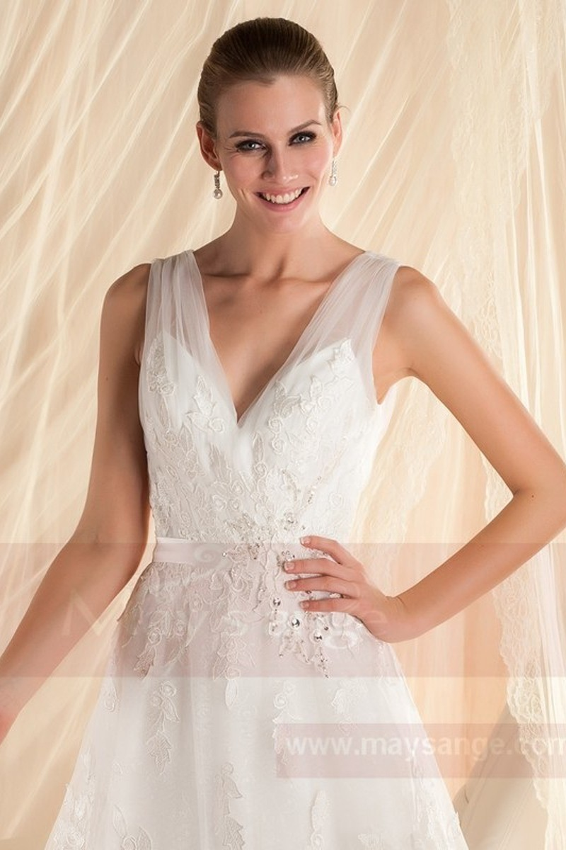 White bridal gown M347 - Ref M347 - 01