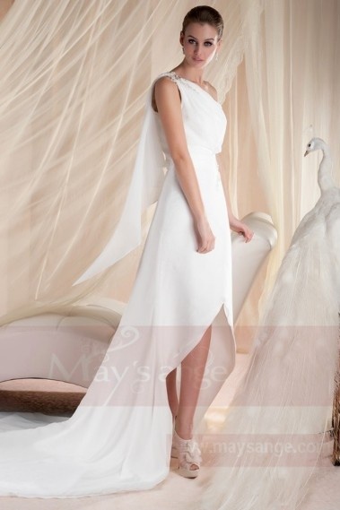 Long wedding dress - White bridal gown M348 - M348 #1
