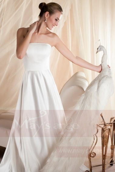 Backless Wedding Dress - Bridal gown M354 - M354 #1