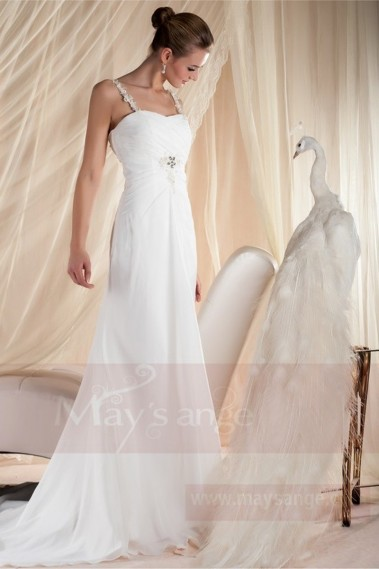 Long wedding dress - Bridal gown M355 - M355 #1