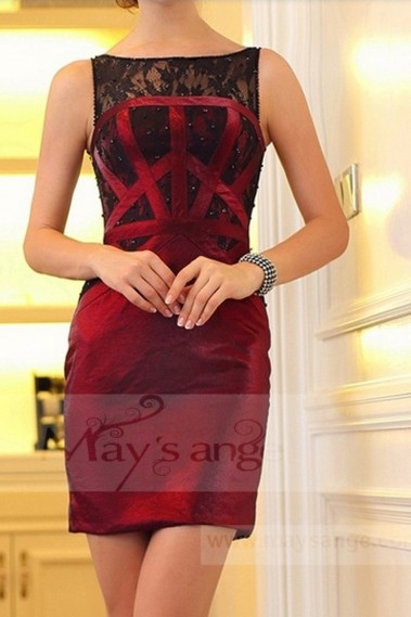 Red evening dress - C747 - C747 #1