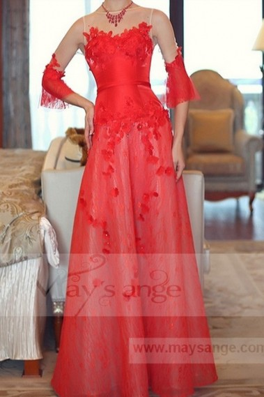 Red evening dress - L689 - L689 #1