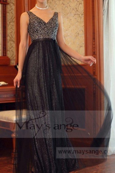 Black evening dress - L691 - L691 #1