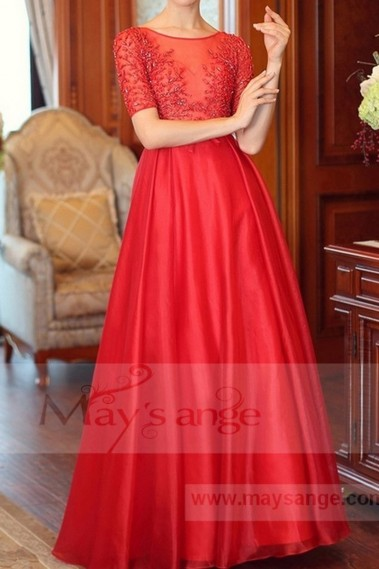 Red evening dress - L696 - L696 #1