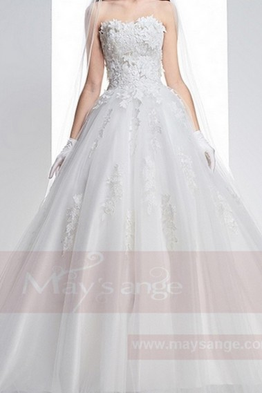 White wedding dress - Bridal gown M358 - M358 #1