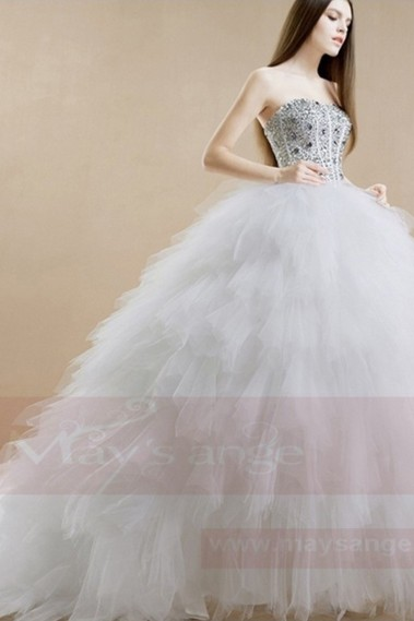 Long wedding dress - Bridal gown M359 - M359 #1
