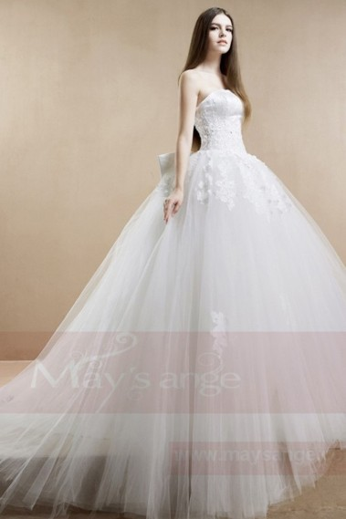 White wedding dress - Bridal gown M361 - M361 #1