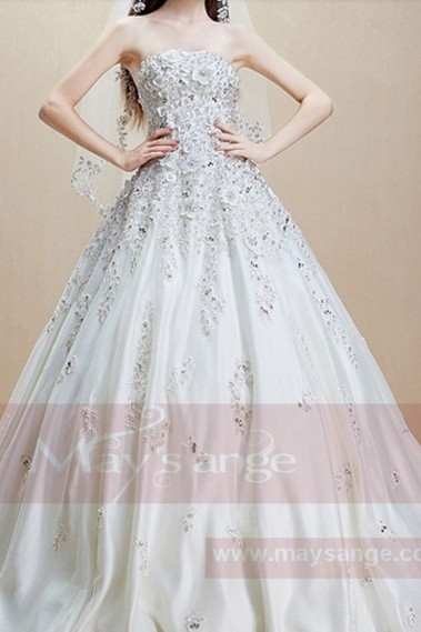 White wedding dress - Bridal gown M363 - M363 #1