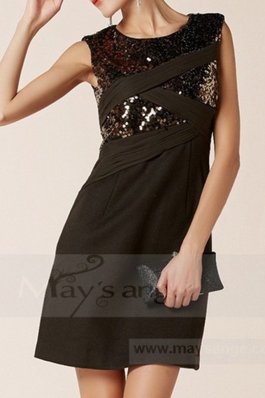 Black evening dress - C753 - C753 #1