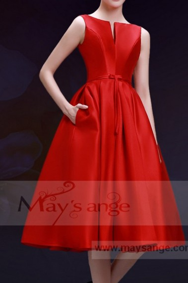robe de cocktail chic   rouge feu