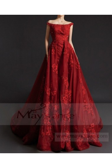 Red evening dress - Robe de bal P073 - P073 #1