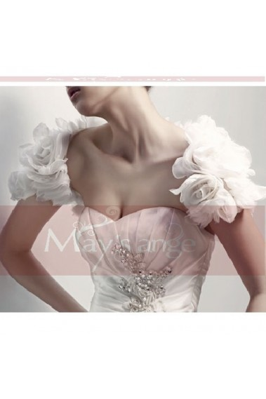 Beautiful White chiffon bolero wedding - BOL003 #1