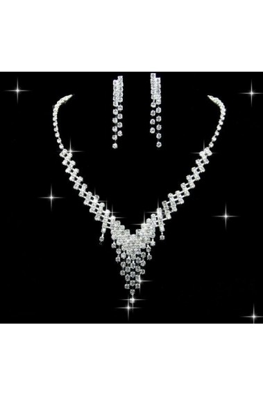 Cheap wedding necklace and earrings set - E114 #1