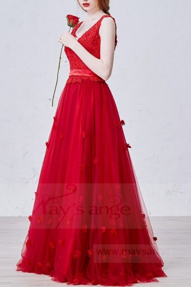 Red evening dress - L719 - L719 #1