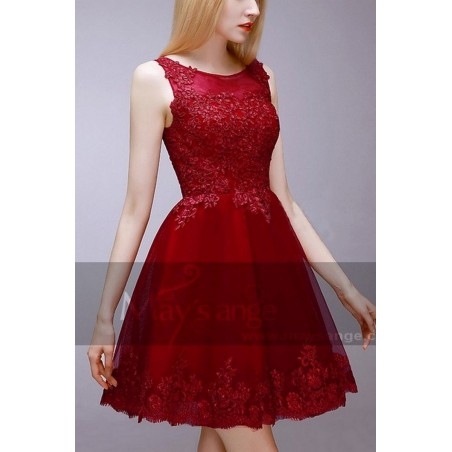robes soiree C765  Rouge Fonce - Ref C765 - 02