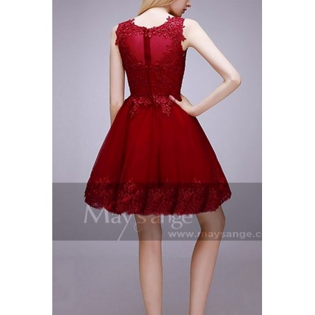 robes soiree C765  Rouge Fonce - Ref C765 - 03