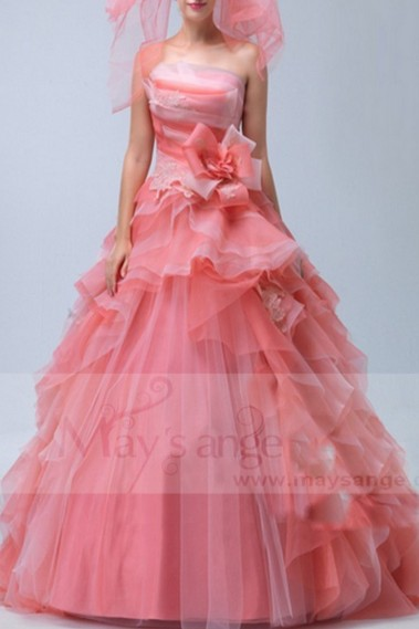 Red evening dress - P080 - P080 #1